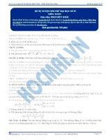 Tài liệu Đề tự luyện thi thử đại học số 07 môn toán pdf