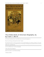 Tài liệu The Child''''s Book of American Biography pdf