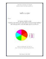 Tài liệu TIỂU LUẬN:SỬ DỤNG CHIẾN LƯỢC THIẾT LẬP BẢNG DỮ LIỆU MỘT CÁCH CÓ HỆ THỐNG ĐỂ GIẢI QUYẾT VẤN ĐỀ HIỆU QUẢ VÀ TỐI ƯU pdf
