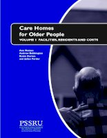Tài liệu Care Homes for Older People: FACILITIES, RESIDENTS AND COSTS ppt