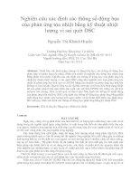 Nghiên cứu xác định các thông số động học của phản ứng tỏa nhiệt bằng kỹ thuật nhiệt lượng vi sai quét DSC