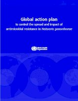 Tài liệu Global action plan to control the spread and impact of antimicrobial resistance in Neisseria gonorrho pdf