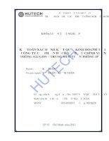 Kế toán xác định kết quả kinh doanh tại Công ty cổ phần dịch vụ bưu chính viễn thông Sài Gòn- Trung tâm viễn thông IP
