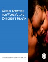 Tài liệu Global Strategy for Women,s and Children,s Health potx
