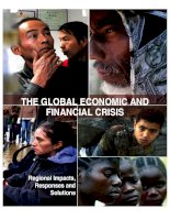 Tài liệu THE GLOBAL ECONOMIC AND FINANCIAL CRISIS: Regional Impacts, Responses and Solutions doc