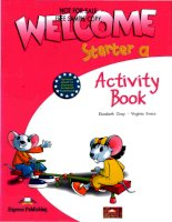 welcome stater activity  book