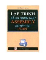 Tài liệu Lập trình bằng ngôn ngữ Assembly cho máy tính PC-IBM docx