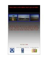 Tài liệu Hướng dẫn quản lý chất lượng nước trong ao nuôi tôm sú dành cho người nuôi trồng thủy sản pptx