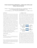 Tài liệu Event-based Social Networks: Linking the Online and Offline Social Worlds ppt