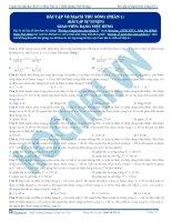 luyện thi đh kit 1 (đặng việt hùng) - bài tập về mạch thu sóng p1 (bài tập tự luyện)