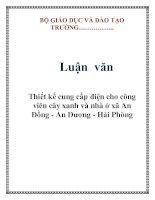 Tài liệu Luận văn: Thiết kế cung cấp điện cho công viên cây xanh và nhà ở xã An Đồng - An Dương - Hải Phòng potx