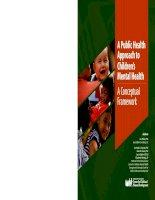 Tài liệu A Public Health Approach to Children's Mental Health - A Conceptual Framework pdf