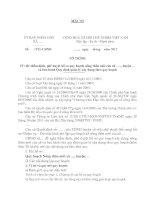 Tài liệu MẪU Về việc thẩm định, phê duyệt hồ sơ quy hoạch nông thôn mới của xã ….., huyện … và ban hành Quy định quản lý xây dựng theo quy hoạch potx
