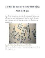 Tài liệu 5 bước cơ bản để học từ mới tiếng Anh hiệu quả pptx