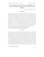 Tài liệu KHẢ NĂNG SỬ DỤNG THỨC ĂN CHẾ BIẾN CỦA CÁ LEO (Wallago attu) GIAI ĐOẠN HƯƠNG LÊN GIỐNG pptx