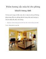 Tài liệu Thêm hương sắc mùa hè cho phòng khách trung tính ppt