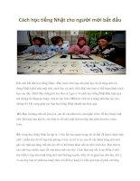 Tài liệu Cách học tiếng Nhật cho người mới bắt đầu potx