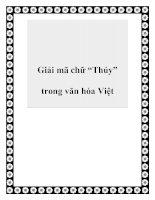 """Tài liệu Giải mã chữ """"Thủy"""" trong văn hóa Việt ppt"""
