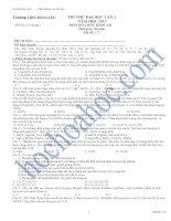 Tài liệu THI THỬ ĐẠI HỌC LẦN 2 NĂM HỌC 2013 MÔN HÓA HỌC KHỐI A,B - Trường THPT ĐỒNG LỘC - Mã đề: 123 ppt