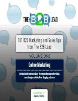 Tài liệu 30 Online Marketing Tips for Driving Lead Generation potx