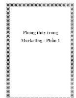 Tài liệu Phong thủy trong Marketing - Phần 1 potx