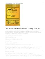 Tài liệu The No Breakfast Plan and the Fasting-Cure ppt