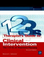 Tài liệu Therapist''''s Guide to Clinical Intervention The 1-2-3''''s of Treatment Planning pdf