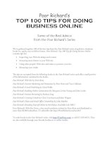 Tài liệu top 100 tips for doing business online doc