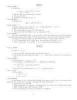 Tài liệu Tuyển tập 200 đề thi môn toán vào lớp 10 pot