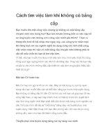 Tài liệu Cách tìm việc làm khi không có bằng cấp pdf