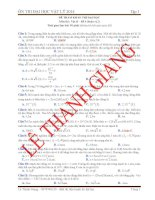 Luyện Thi Đại Học Vật Lý có đáp án giải chi tiết