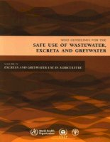 Tài liệu who guidelines for the safe use of wasterwater excreta and greywater docx