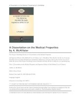 Tài liệu A Dissertation on the Medical Properties and Injurious Effects of the Habitual Use of Tobacco pptx