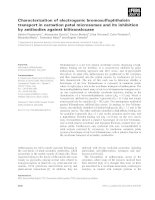 Tài liệu Báo cáo khoa học: Characterization of electrogenic bromosulfophthalein transport in carnation petal microsomes and its inhibition by antibodies against bilitranslocase docx
