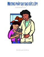 Tài liệu Phương pháp dạy đạo đức lớp 1 pdf
