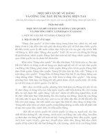 Tài liệu MỘT SỐ VẤN ĐỀ VỀ ĐẢNG VÀ CÔNG TÁC XÂY DỰNG ĐẢNG HIỆN NAY ppt