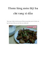 Tài liệu Thơm lừng món thịt ba chỉ rang xì dầu ppt