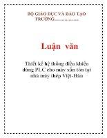 Tài liệu Luận văn: Thiết kế hệ thống điều khiển dùng PLC cho máy xấn tôn tại nhà máy thép Việt-Hàn docx
