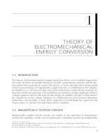 Chapter 1  theory of electromechanical energy conversion
