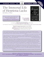 Tài liệu Teacher''''s Guide: THE IMMORTAL LIFE OF HENRIETTA LACKS by Rebecca Skloot pdf