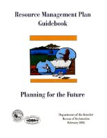 Tài liệu RESOURCE MANAGEMENT PLAN GUIDEBOOK PLANNING FOR THE FUTURE pdf