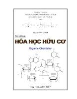 Bài giảng hóa học hữu cơ