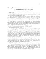 Tài liệu Chương 3 Khái niệm về bệnh nguyên docx