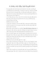 Tài liệu 4 chiêu mở đầu bài thuyết trình pdf