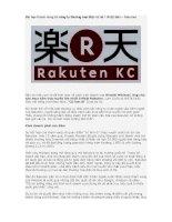 Tài liệu Bài học thành công từ công ty thương mại điện tử số 1 Nhật Bản – Rakuten ppt