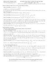 Tài liệu SỞ GD & ĐT THANH HOÁ TRƯỜNG THPT HẬU LỘC 4 ĐỀ KIỂM TRA CHẤT LƯỢNG ÔN THI ĐẠI HỌC LẦN 1, NĂM HỌC: 2012 - 2013 MÔN TOÁN, KHỐI A VÀ KHỐI A1 pdf