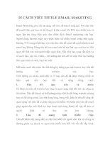 Tài liệu 15 CÁCH VIẾT TITTLE EMAIL MAKETING doc