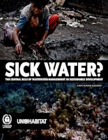 Tài liệu SICK WATER? THE CENTRAL ROLE OF WASTEWATER MANAGEMENT IN SUSTAINABLE DEVELOPMENT pdf