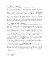 bài thuyết trinh về WTO