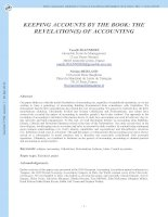 Tài liệu KEEPING ACCOUNTS BY THE BOOK: THE REVELATION(S) OF ACCOUNTING pdf